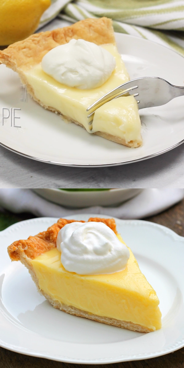 SOUR CREAM LEMON PIE #sweetpie