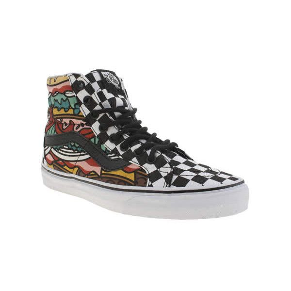 c26186ce108 Vans Multi Sk8-hi Late Night Burger Trainers (£60) ❤ liked on Polyvore  featuring shoes