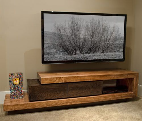 custom woodworking creating a walnut tv stand to specification