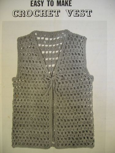 Easy To Make Crochet Vest My Style Pinterest Crochet Crochet