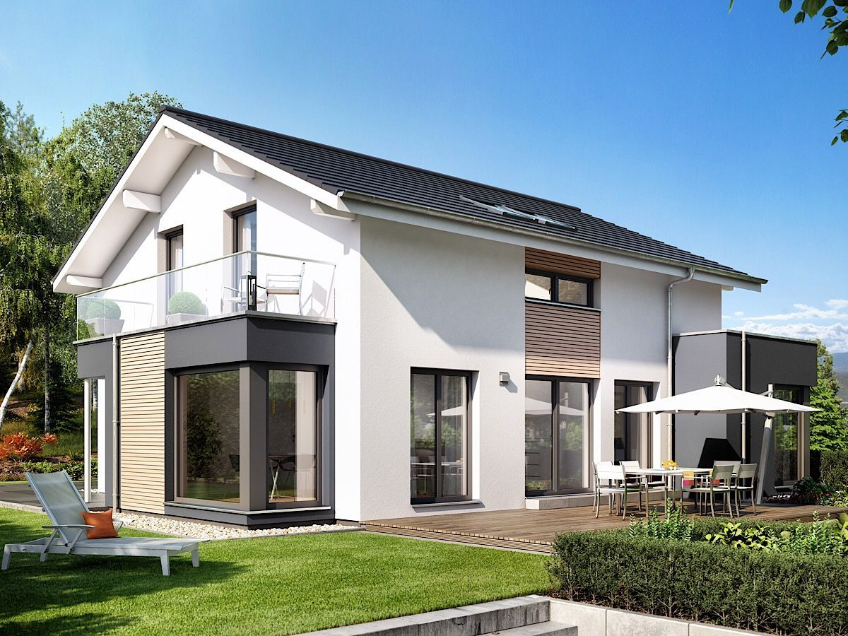 Modernes Haus Design mit Wintergarten Erker, Balkon