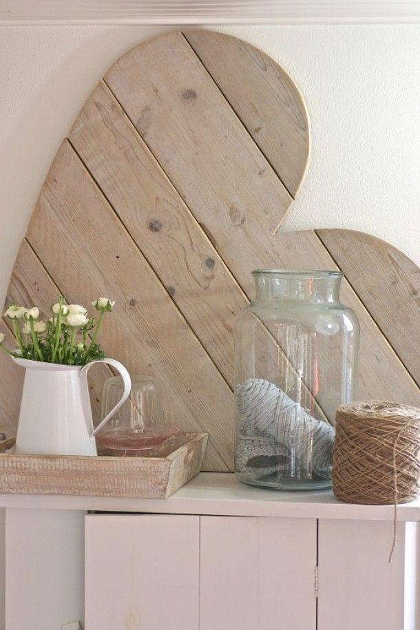 Houten hart huis pinterest hart huisdecoratie en decoratie - Meer mooie houten huizen ...