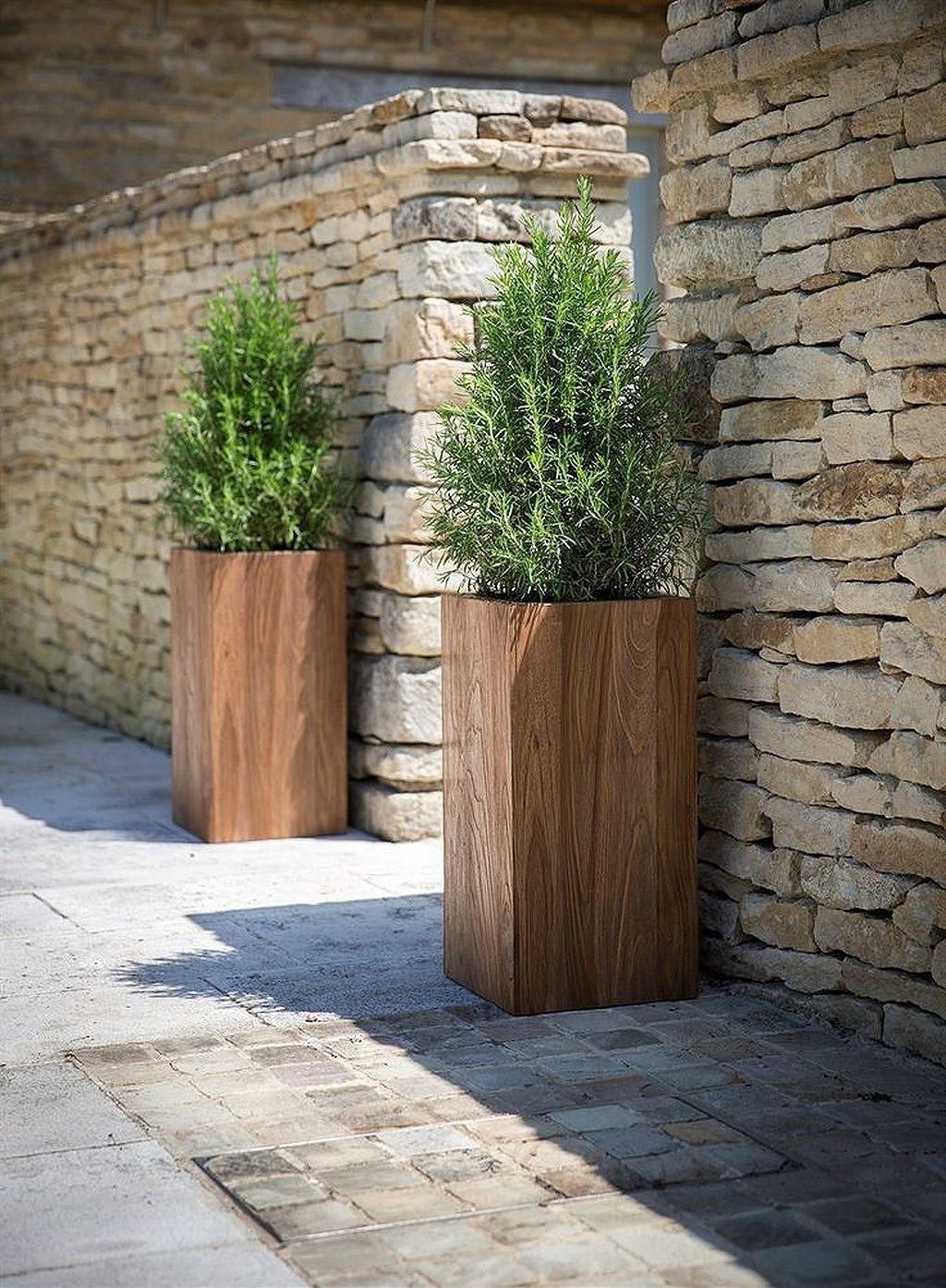 Pin By Angie On Home Outdoor Decor Wooden Garden Planters Large