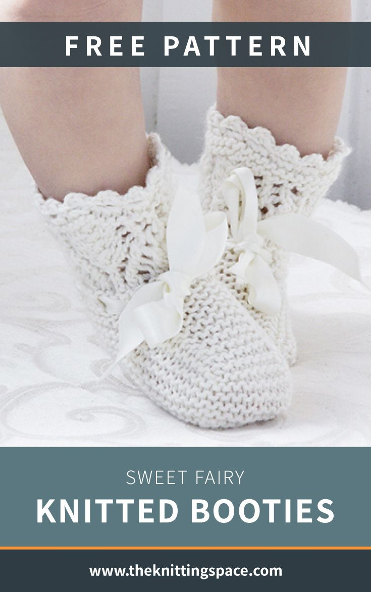 Sweet Fairy Knitted Booties [FREE Knitting Pattern]