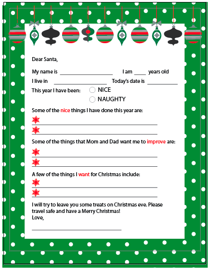 Free Printable Letter To And From Santa  Printable Letters Phone