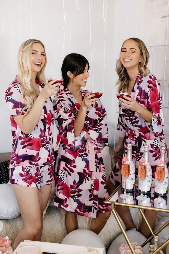 6c5e575b88 Bridesmaid Pajama Set Pink