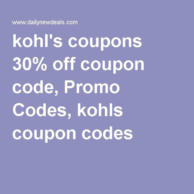 Kohls coupons 30 off coupon code promo codes kohls coupon kohls coupons 30 off coupon code promo codes kohls coupon codes fandeluxe Gallery