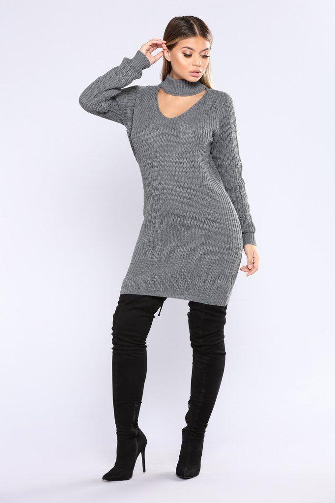 Fucked sweaterdress heels