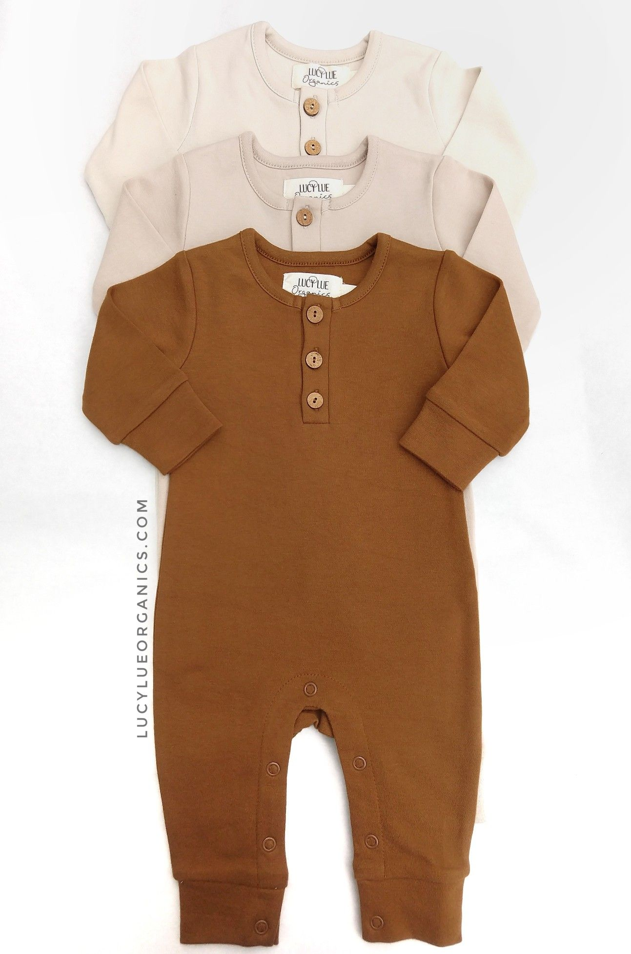 Neutrals Organic Cotton Rompers Trendy Baby Clothes Baby Outfits Newborn Modern Baby Clothes Boy