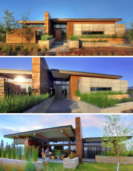 prairie style architecture rustic modern earth wood steel high desert home - Prairie Style Home Designs
