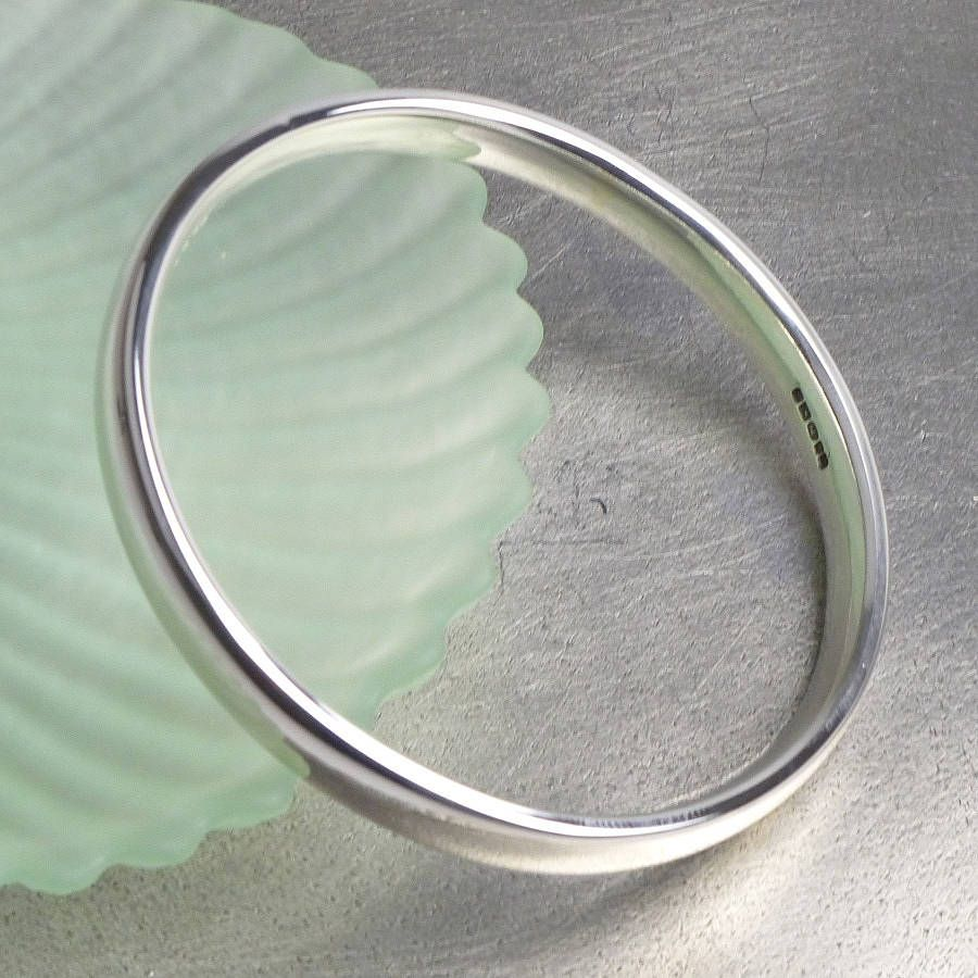 8ff2c2b36 personalised sterling silver bangle by hersey silversmiths |  notonthehighstreet.com