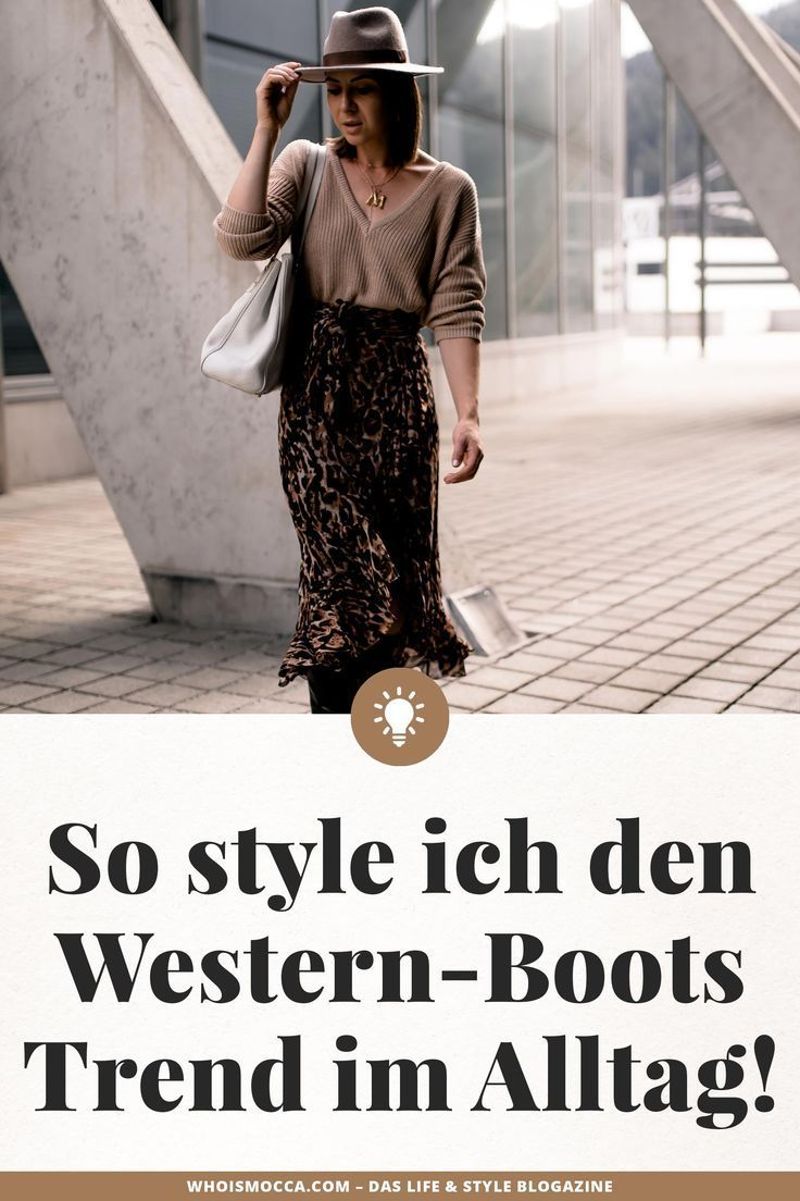 Schwarze Stiefel bis zum Rock: So styl ich den Westernstiefel-Trend im Alltag