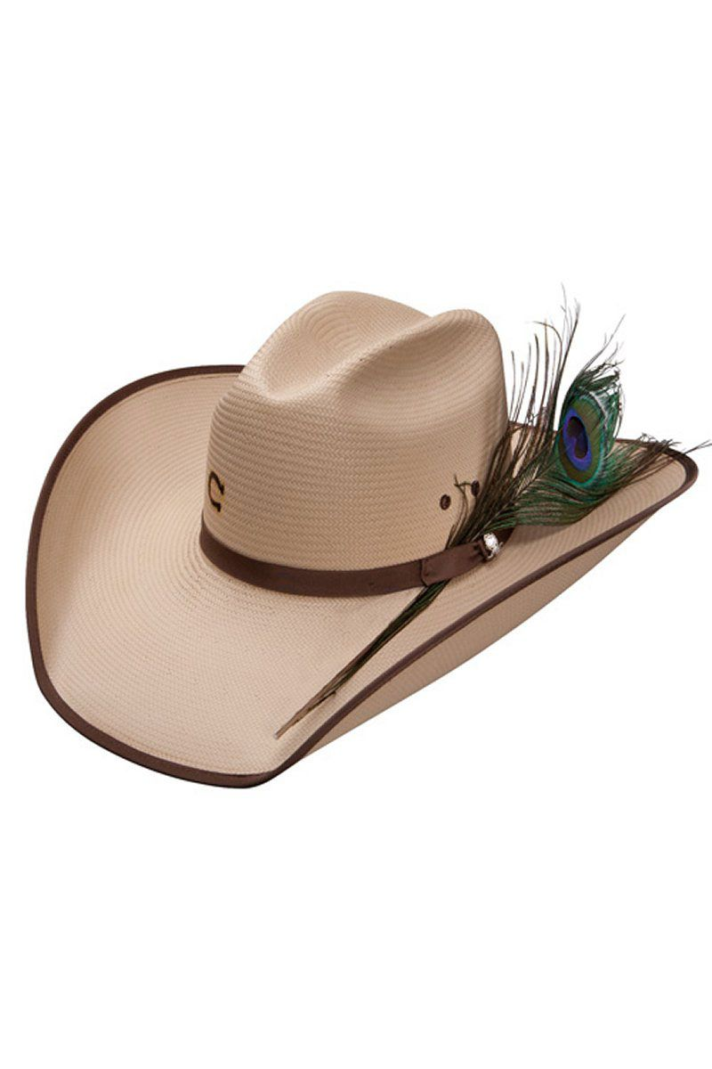 0ba6595ee0ad81 Charlie 1 Horse Plume Crazy Straw Cowboy Hat - free shipping & on sale!