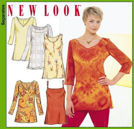 New Look 6086 Misses Tunic Tops | Patterns, Sewing projects and ...
