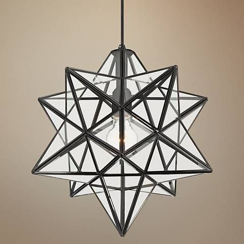 Cuthbert 15w black and clear glass star pendant light 35f84 cuthbert 15w black and clear glass star pendant light 35f84 lamps aloadofball Choice Image