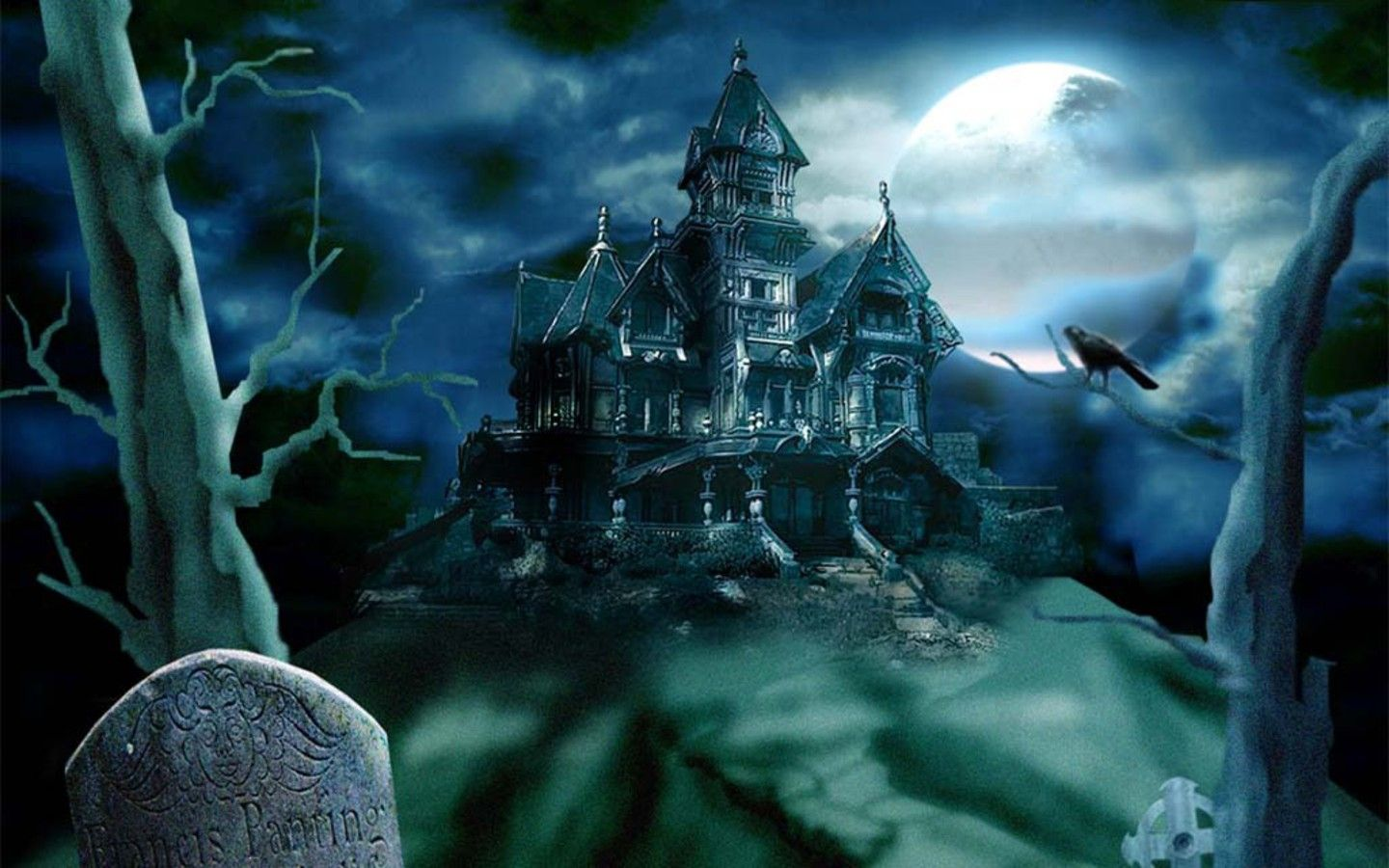 Dark Scary Bedroom At Night Wallpaper Creative Horror Ghost Houses Hq1440x900 Wallpapers Halloween Haunted Houses Scary Houses Scary Sounds