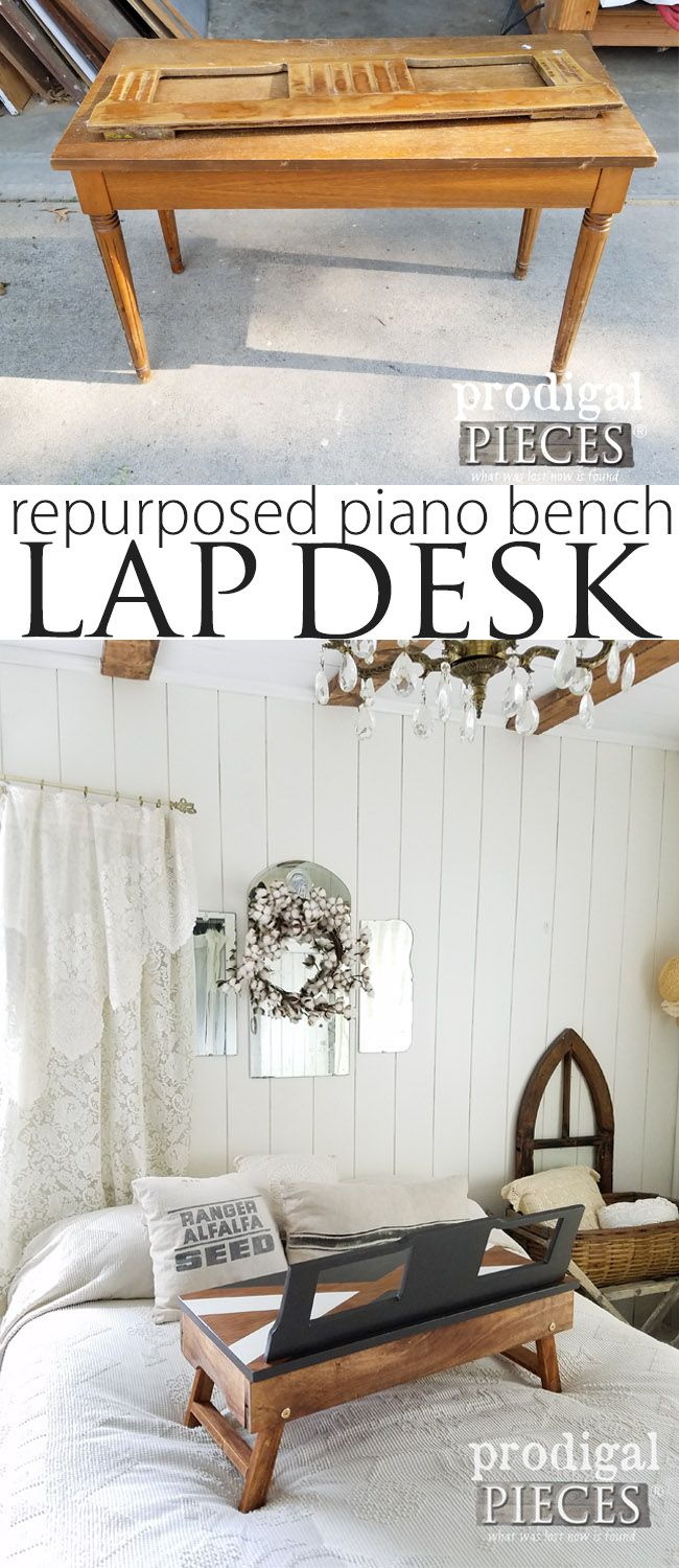Groovy Repurposed Piano Bench Lap Desk My Pieces Projects Caraccident5 Cool Chair Designs And Ideas Caraccident5Info