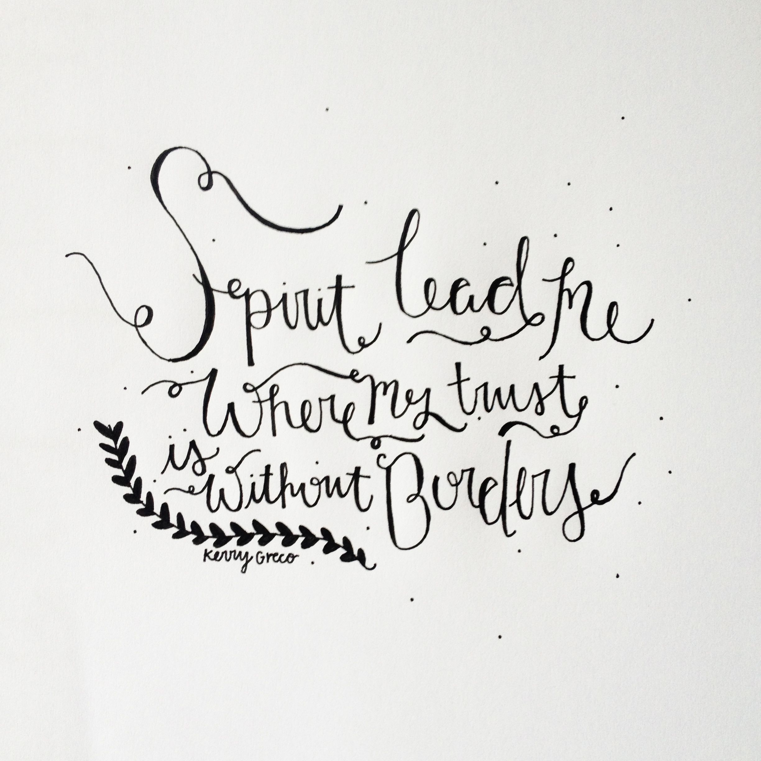 Trust without borders calligraphy truth quote