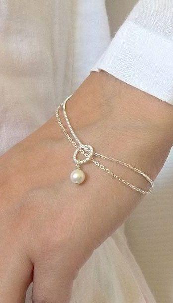 Swarovski Pearl Bracelet Looks Easy To Make Bridesmaids Gift Mother S Day