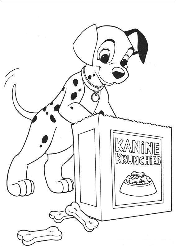 kleurplaat 101 Dalmatiers - 101 Dalmatiers | Kids Drawing Tutorials ...