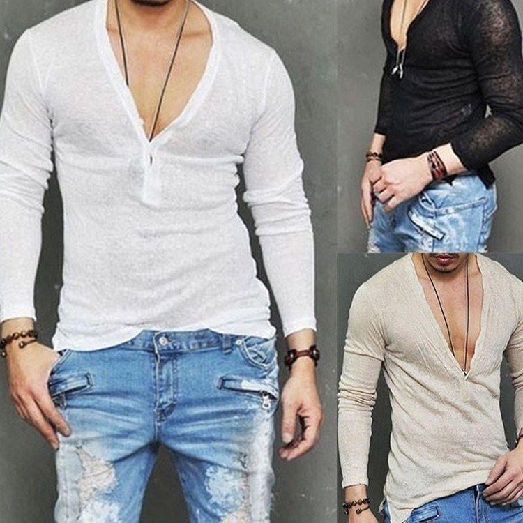 Fashion Men/'s Summer Casual Dress Shirt Solid Long Sleeve Shirts Tops Tee US