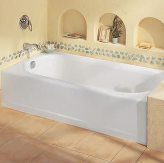 American Standard Princeton Recess By Left Hand Drain Bath Tub With Luxury  Ledge, White