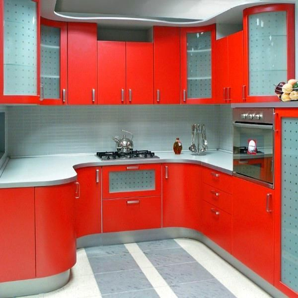 50 plus 25 contemporary kitchen design ideas, red kitchen cabinets
