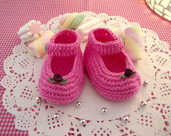 Instant Download Crochet Pattern (pdf file) - YARA simple baby shoes ...