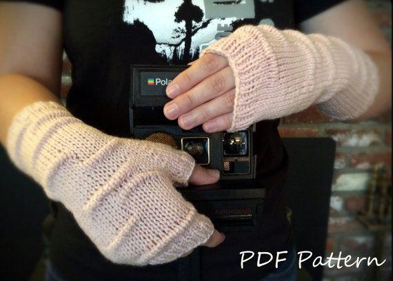 PDF Knitting PATTERN  Pucker Stitch Fingerless by LawsOfKnitting, $5.50 #fingerlessgloves #knittingpattern #etsy