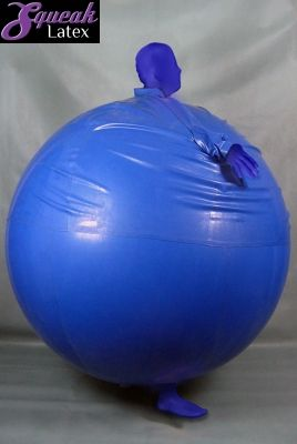 Inflatable blueberry costume from SqueakLatex.com ...