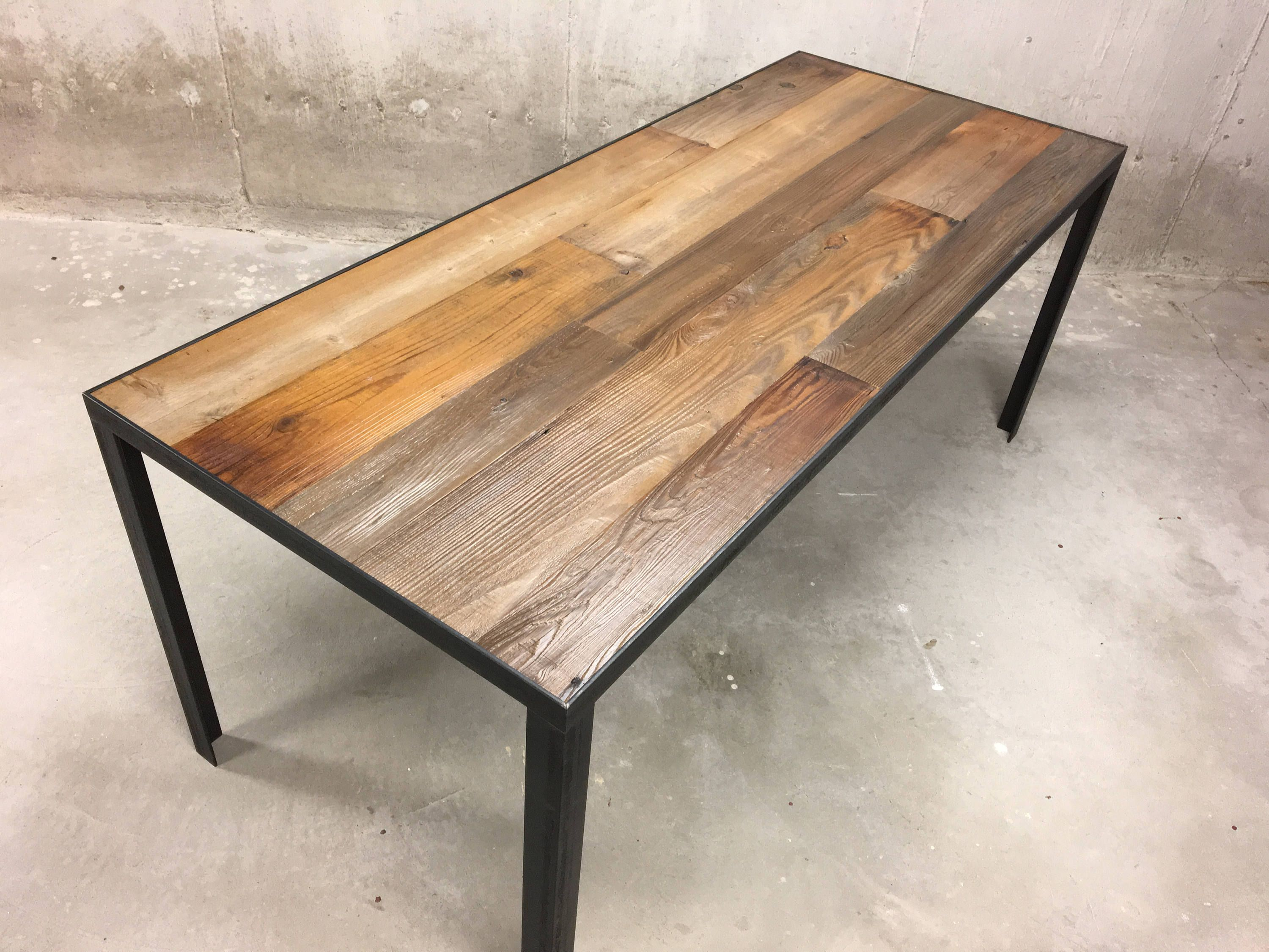 reclaimed wood furniture etsy. Reclaimed Wood Dining Table - Steel Banding Legs By SWDESIGNS74 On Etsy Furniture E