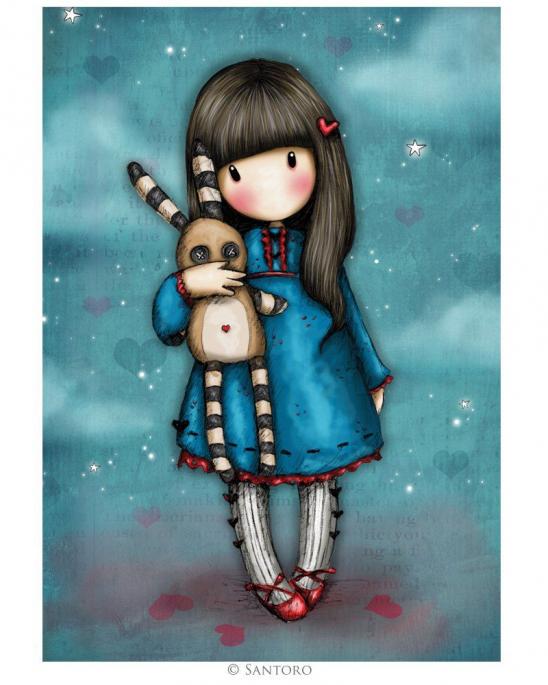 Hush Little Bunny Long Wallet by Gorjuss
