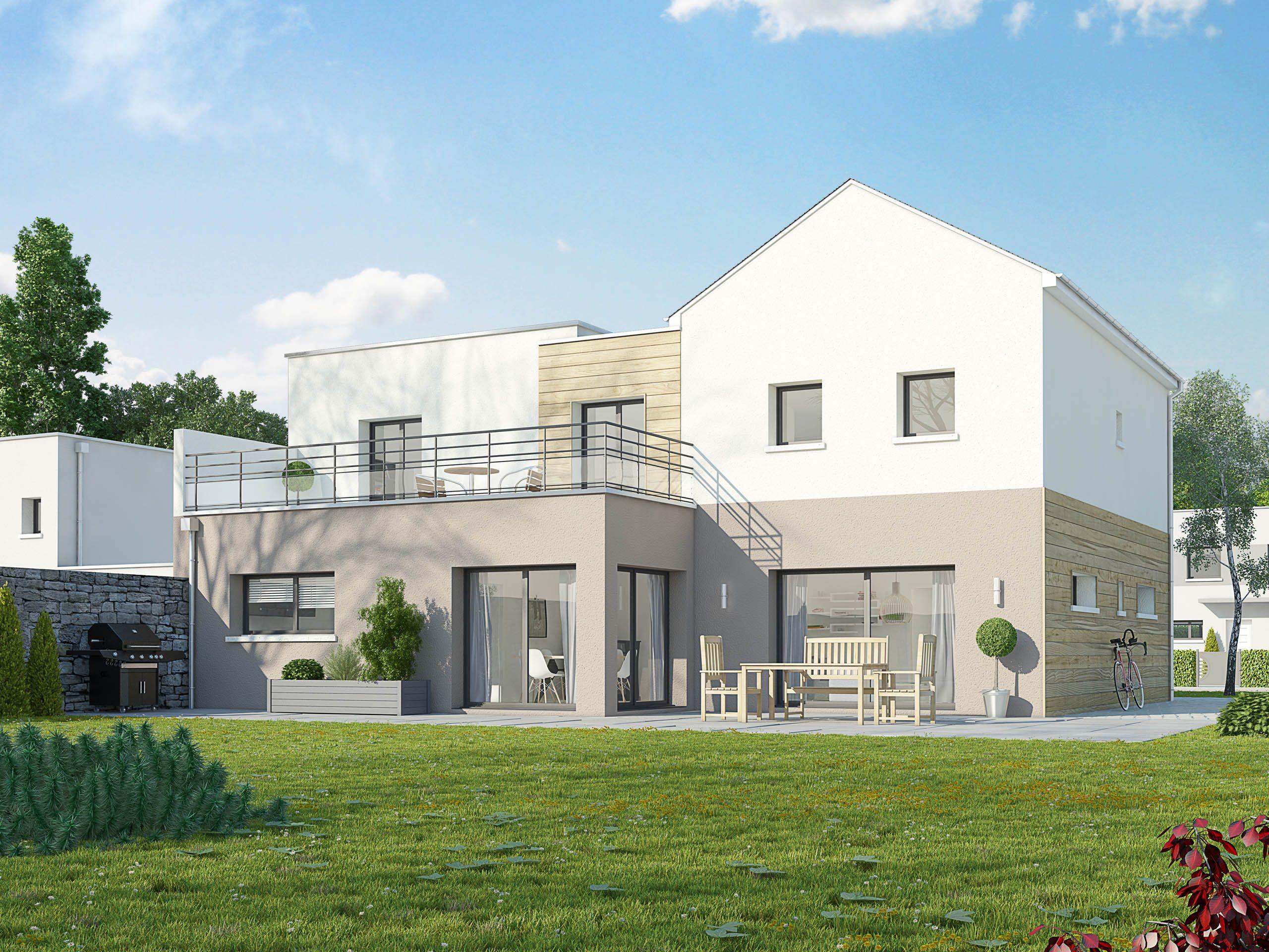 Maison En Ligne Terre Demeure Constructeur De Maisons - Maison individuelle ile de france