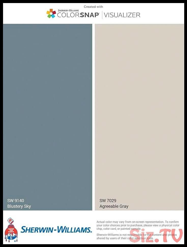 Pale Dusty Blue for House Exterior Doors and Shutter  Greige for House Exterior  Paint Colors by Sherwin-Williams Blustery Sky and Agreeable Gray BlPale Dusty Blue for House Exterior Doors and Shutter  Greige for House Exterior  Paint Colors by Sherwin-Williams Blustery Sky and Agreeable Gray BlKeith Minchew Save Images Keith Minchew Pale Dusty Blue for House Exterior Doors and Shutter  Greige for House  #agreeable #agreeablegraylivingroom #blustery #colors #doors #dusty #exterior #greige #house #sherwinwilliamsagreeablegray