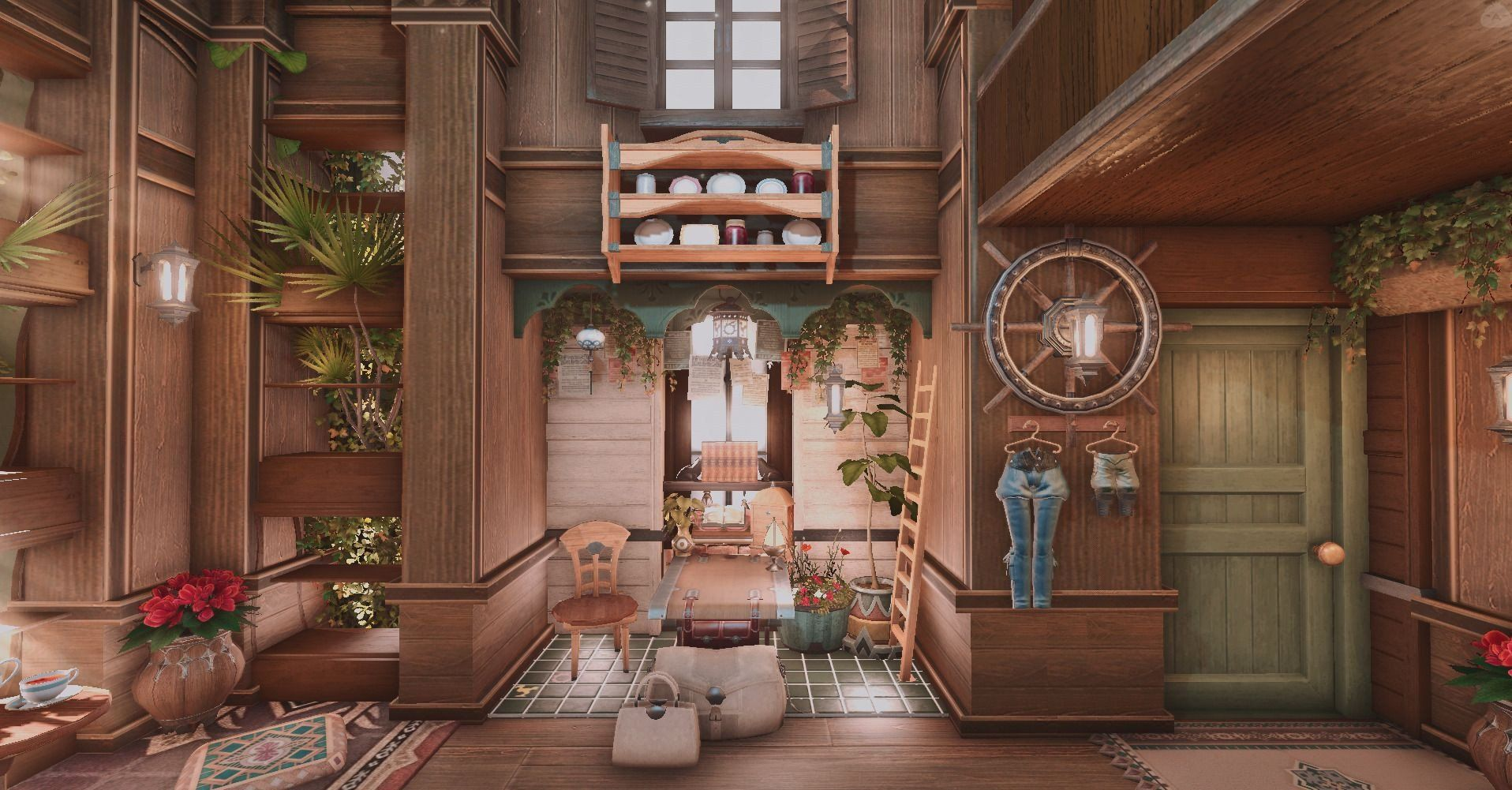 Ffxiv Housing Decoration Ideas Beautiful Forest House Housing Snap Ffxiv Housing In 2019 Fantasy House Forest House House