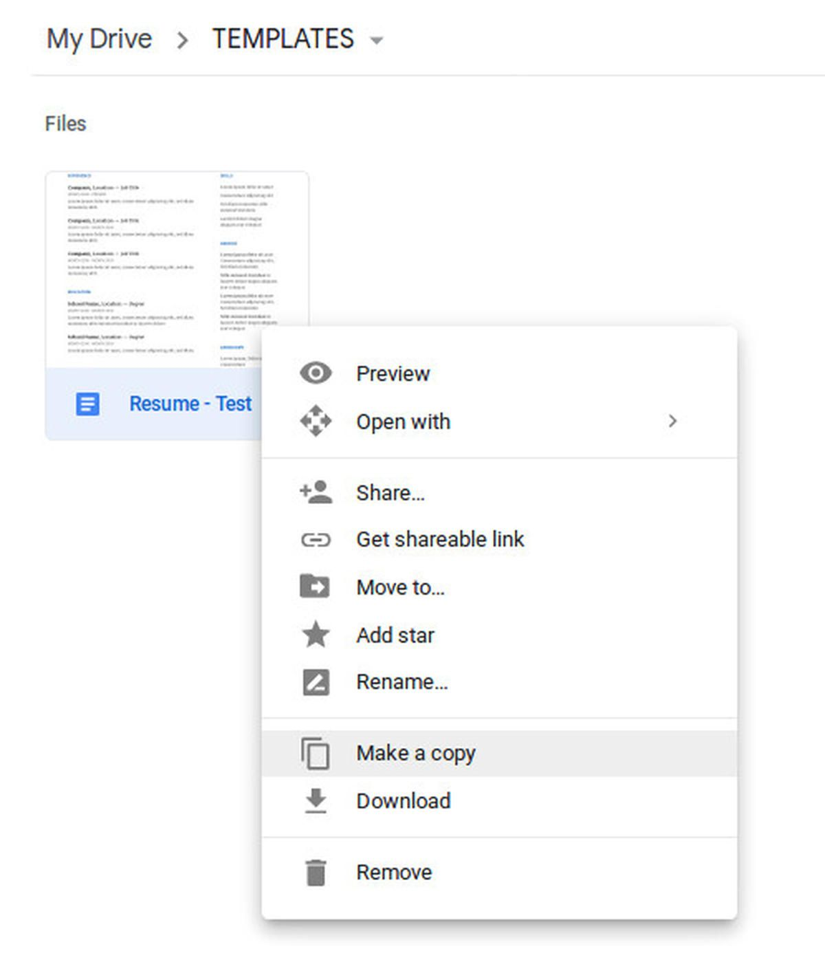How to create new templates in the free version of google