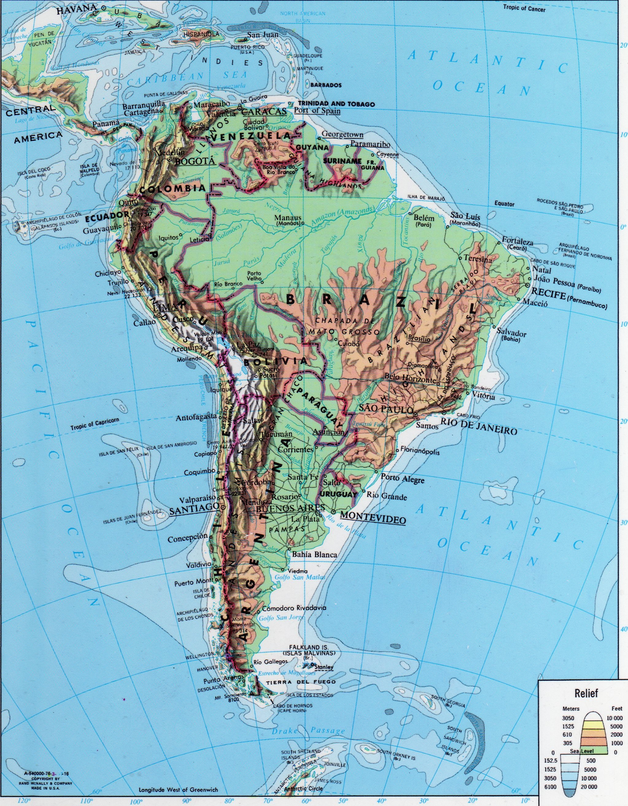 Andes Mountains | Map, Andes mountains, South america