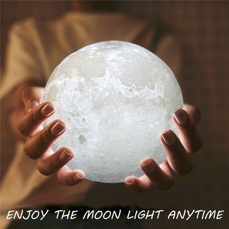 3d Printing Led Luna Night Light Moon Lamp Touch Control Usb Charging Gift Uk 10cm Moon Light Lamp Moon Nightlight Night Light