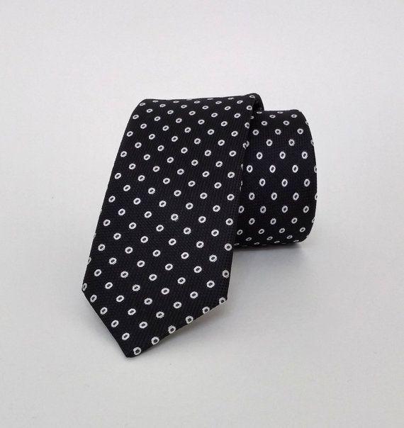 Black Necktie, Black Men's Tie, Black Cravat, Black Tie - DK223 #handmadeatamazon #nazodesign