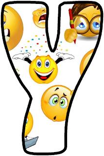Abecedario De Emojis O Emoticonos Emoji Alphabet Emojis Letras Mayusculas Para Imprimir Emoji