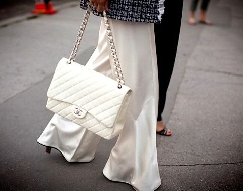 111c76be7870 Find images and videos about fashion, white and bag on We Heart It - the  app to get lost in what you love. White Chanel Handbag.