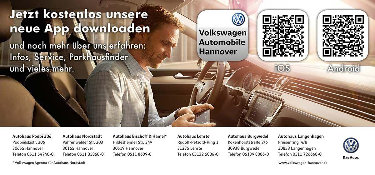 creativteam communications betreut die sechs Autohäuser der Volkswagen Automobile Hannover & Region GmbH ab sofort auch beim Thema Smartphone App.
