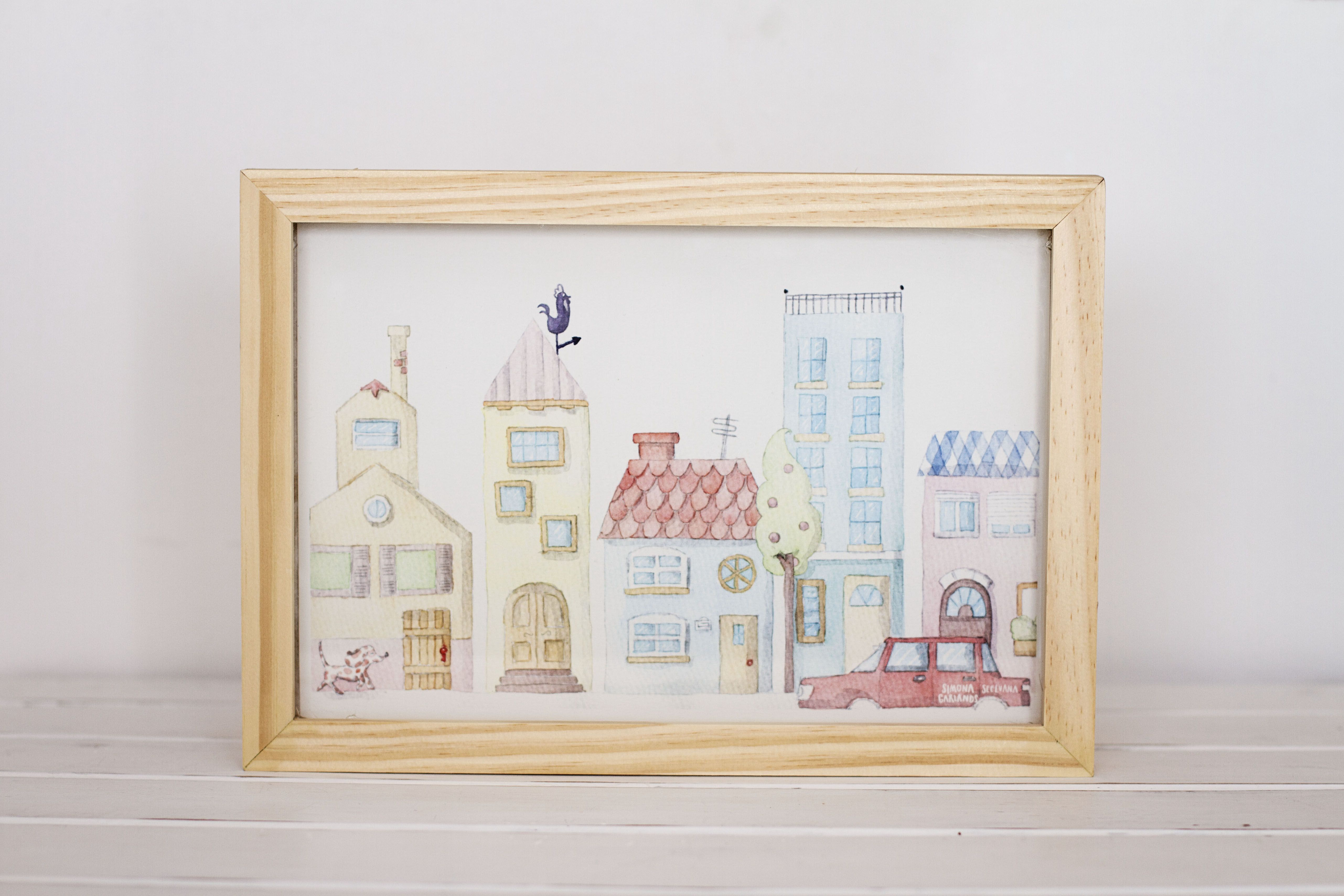 Cuadro marco de madera 20 x 30 . | Colección Simona Garlands . Love ...