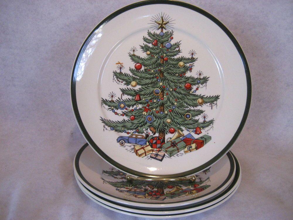 Cuthbertson - ORIGINAL CHRISTMAS TREE - Salad Plates - SET of (4) - EUC - Cuthbertson - ORIGINAL CHRISTMAS TREE - Salad Plates - SET Of (4