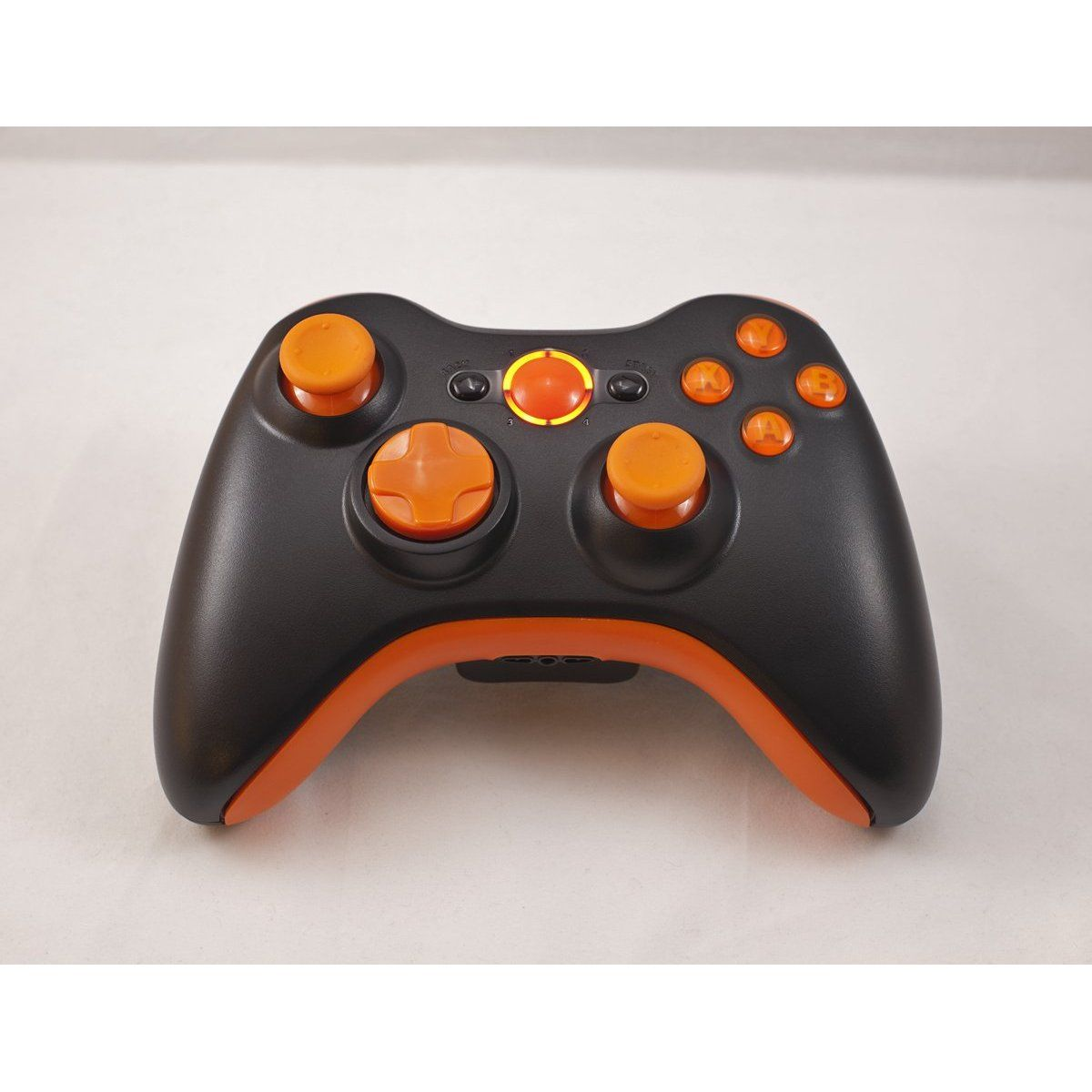 Amazon com: Matte Black/Orange LED Xbox 360 Modded Controller (Rapid