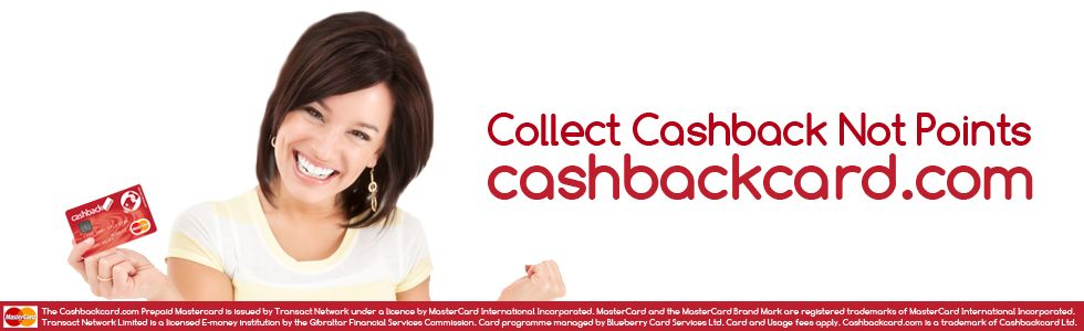 If you live in the UK you could be getting cashback whenever you spend money. Just click and find out how.