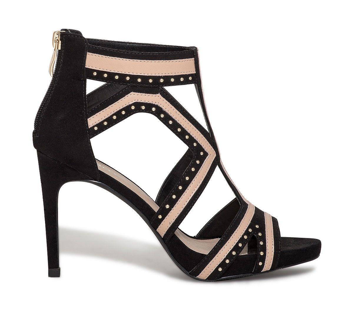 Rose Talon Noire Chaussures Sandale Et Femme À Sandales uJcTlFK13