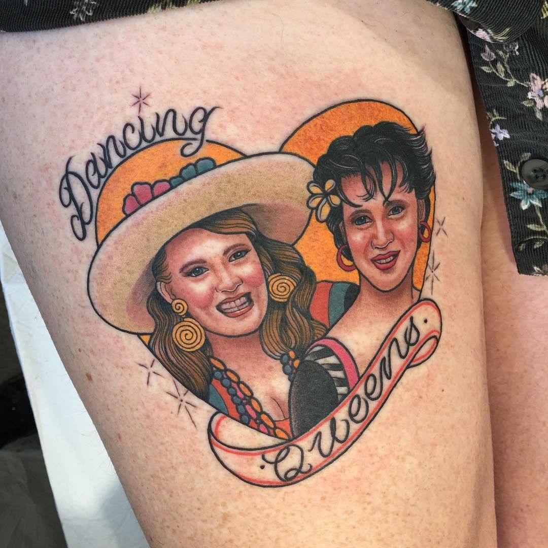 Dancing Queens • Muriel's Wedding Portrait Tattoo Tattoo