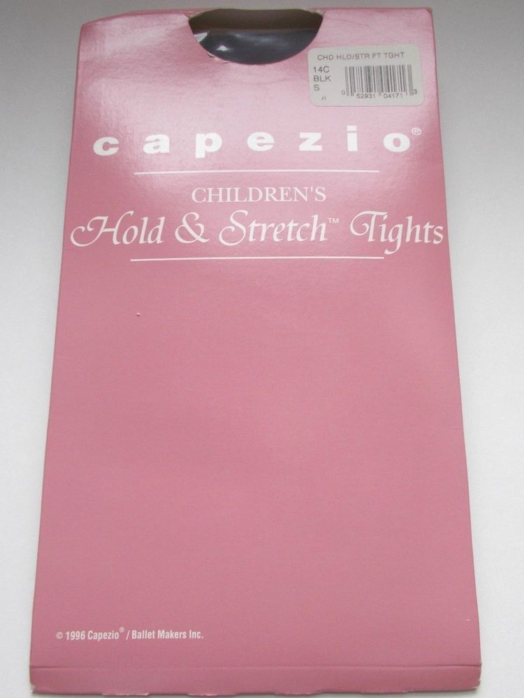 Capezio Tights Girls Children Black Small Style 14C #Capezio