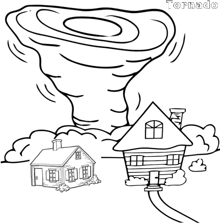 Best Tornado Air Coloring Sheet For Kids Tornado Coloring Pages